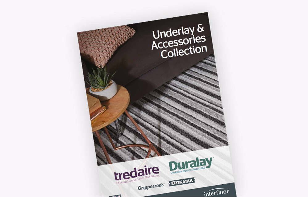 A picture of the interfloor Underlay & Accessories catalogue on a white background