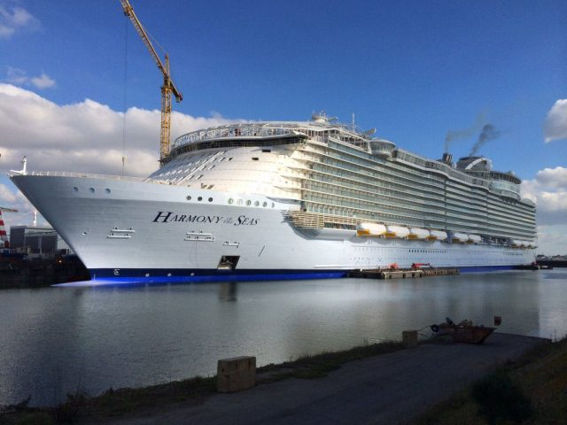 Harmony of the Seas, the World's largest cruise ship, is fitted with 26,000 square meters of Tredaire Flamecheck